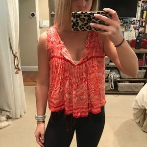 FP orange cropped blouse